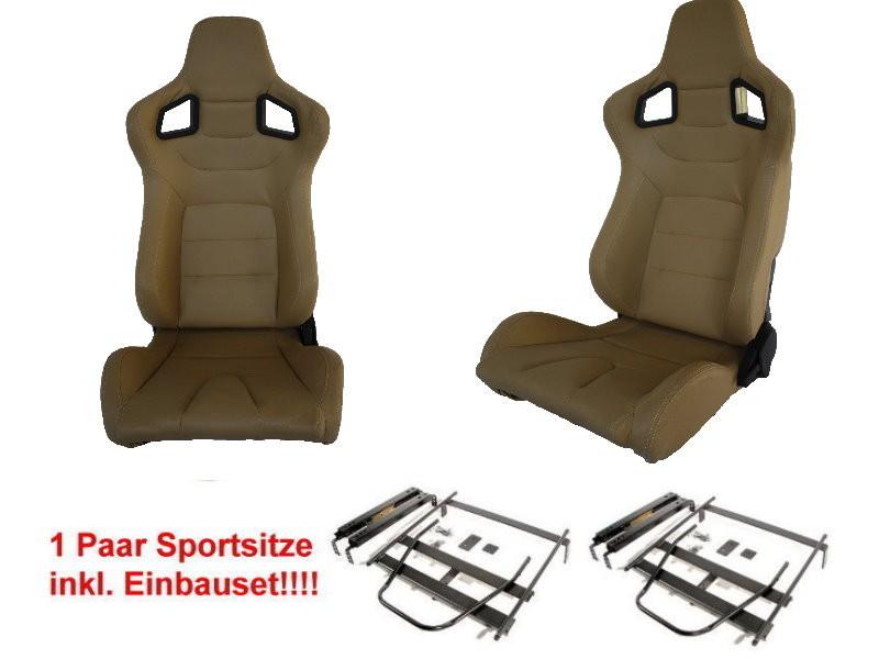 1 paar klappbare sportsitze in leder beige f r bmw 3er e36. Black Bedroom Furniture Sets. Home Design Ideas
